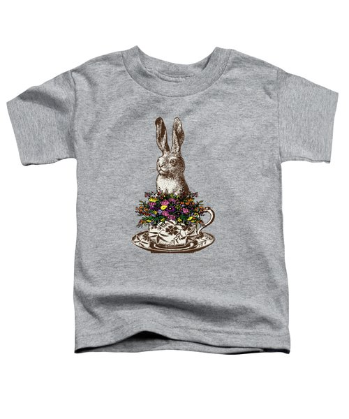 Rabbit In A Teacup Toddler T-Shirt by Eclectic at HeART