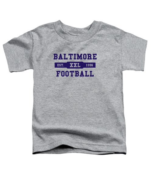 Ravens Retro Shirt Toddler T-Shirt by Joe Hamilton