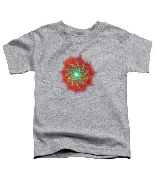 Red Web Toddler T-Shirt by Anastasiya Malakhova