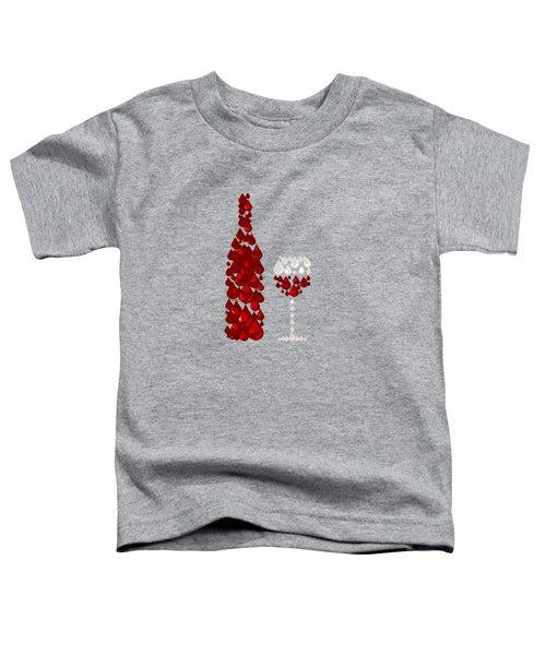 Red Wine Toddler T-Shirt by Anastasiya Malakhova