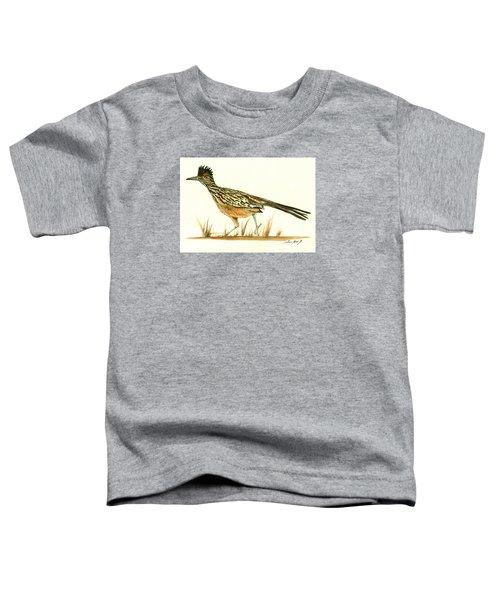 Roadrunner Bird Toddler T-Shirt by Juan Bosco