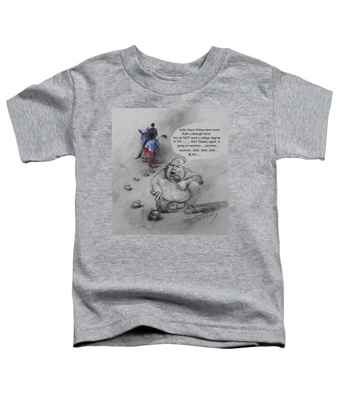 Rush Limbaugh After Obama  Toddler T-Shirt by Ylli Haruni