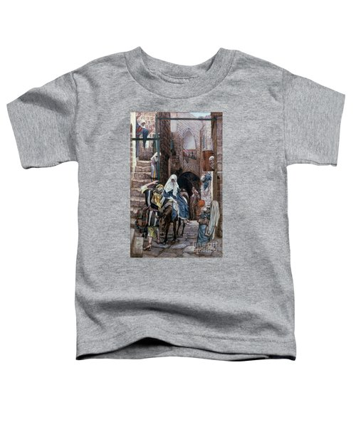 Saint Joseph Seeks Lodging In Bethlehem Toddler T-Shirt by Tissot