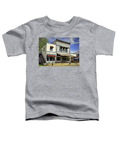 Samuel Hackmann Building Toddler T-Shirt by Cricket Hackmann