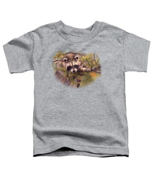 Seeking Mischief Toddler T-Shirt by Lucie Bilodeau