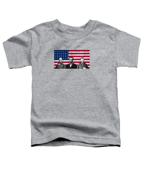 Sherman - Lincoln - Grant Toddler T-Shirt by War Is Hell Store