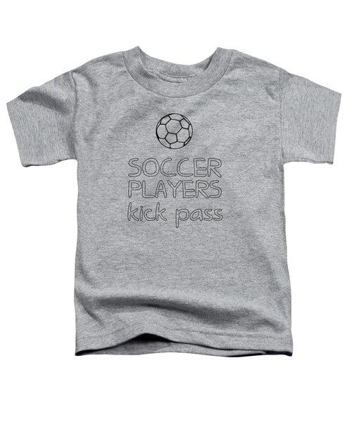 Soccer Players Kick Pass Poster Toddler T-Shirt by Liesl Marelli
