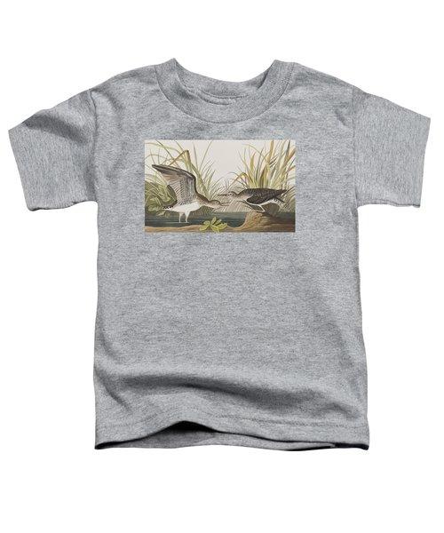 Solitary Sandpiper Toddler T-Shirt by John James Audubon