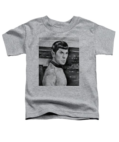 Spock Toddler T-Shirt by Olga Shvartsur
