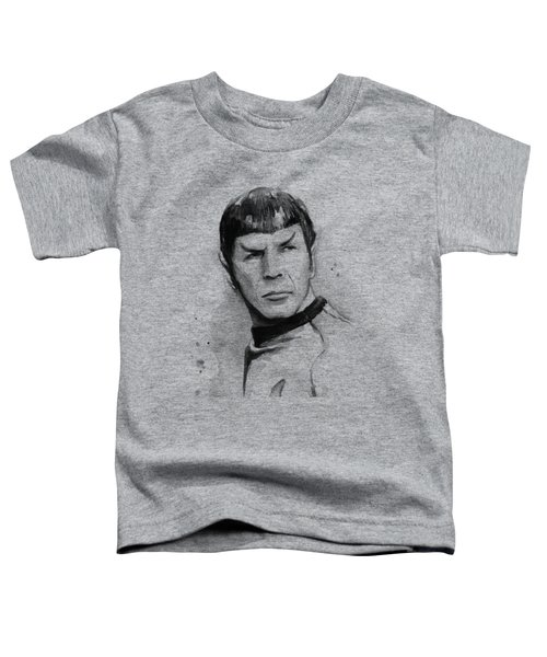 Spock Portrait Toddler T-Shirt by Olga Shvartsur