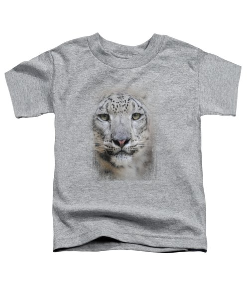Stare Of The Snow Leopard Toddler T-Shirt by Jai Johnson