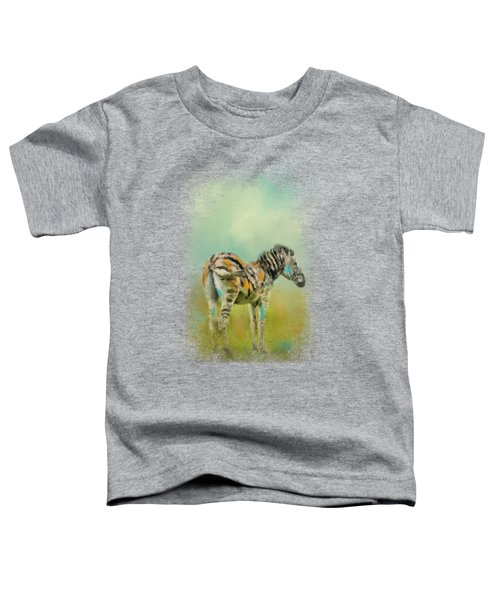 Summer Zebra 1 Toddler T-Shirt by Jai Johnson