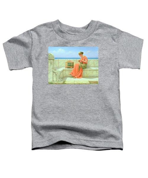 Sweet Sounds Toddler T-Shirt by John William Godward