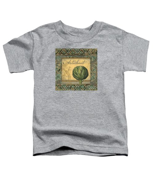 Tavolo, Italian Table, Artichoke Toddler T-Shirt by Mindy Sommers