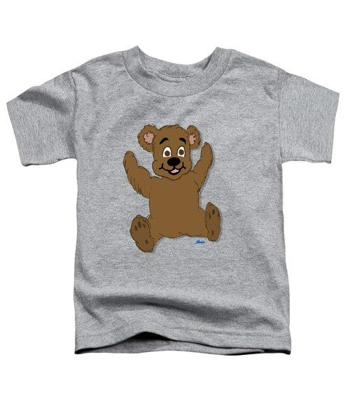 Teddy's First Portrait Toddler T-Shirt by Pharris Art