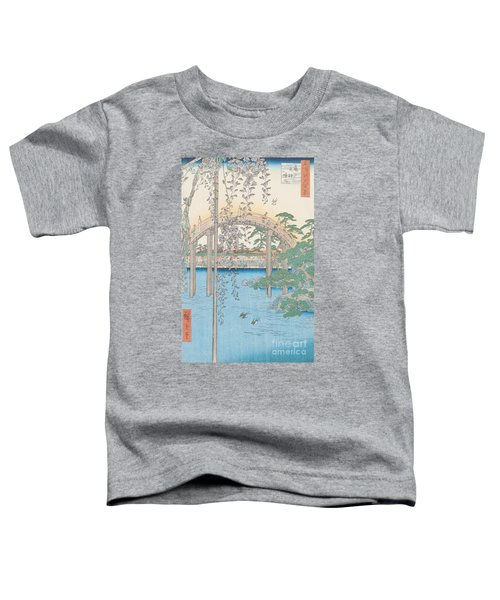 The Bridge With Wisteria Toddler T-Shirt by Hiroshige