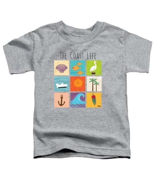 The Coast Life Toddler T-Shirt by Kevin Putman