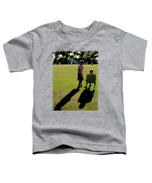 The Cricket Match Toddler T-Shirt by Jon Delorme