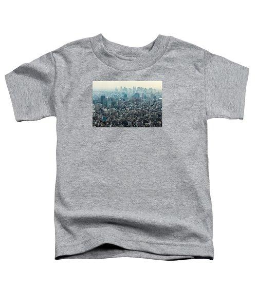 The Great Tokyo Toddler T-Shirt by Peteris Vaivars