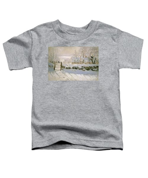 The Magpie Toddler T-Shirt by Claude Monet