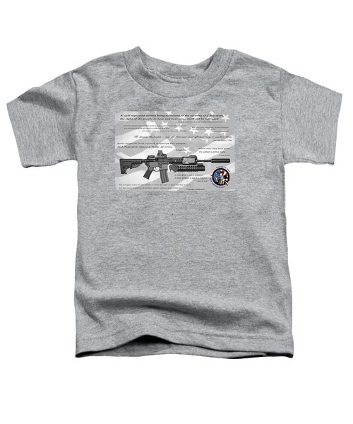 The Right To Bear Arms Toddler T-Shirt by Daniel Hagerman
