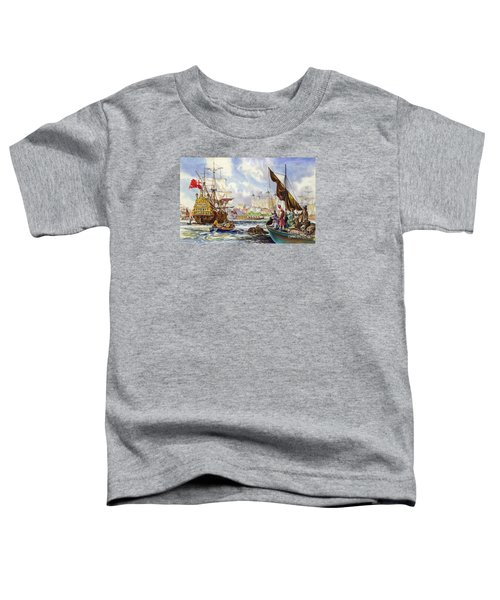 The Tower Of London In The Late 17th Century  Toddler T-Shirt by English School