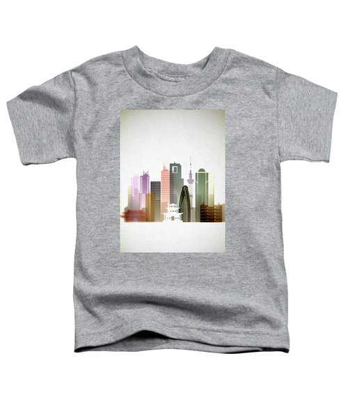 Tokyo  Cityscape Toddler T-Shirt by Dim Dom