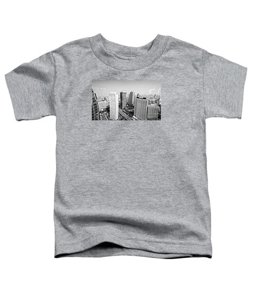 Tokyo Skyline Toddler T-Shirt by Pravine Chester