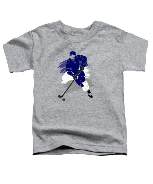 Toronto Maple Leafs Player Shirt Toddler T-Shirt by Joe Hamilton