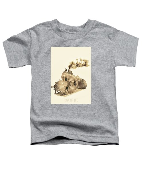 Train Of Life Toddler T-Shirt by Mauro Mondin