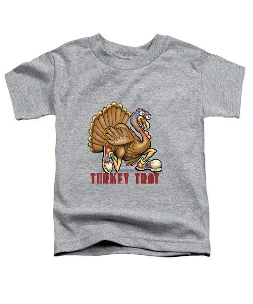 Turkey Trot Toddler T-Shirt by Kevin Middleton
