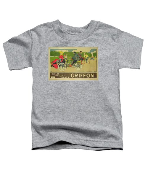Vintage Poster Bicycle Advertisement Toddler T-Shirt by Walter Thor