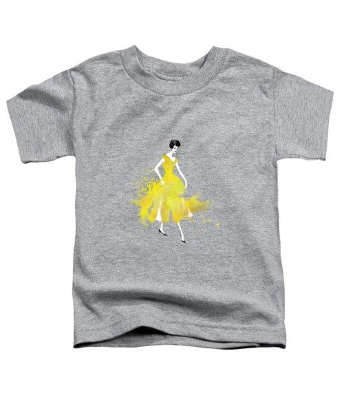 Vintage Yellow Dress Toddler T-Shirt by Diana Van