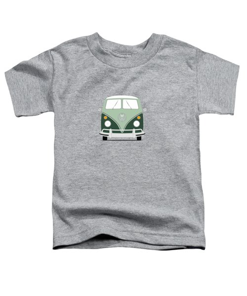 Vw Bus Green Toddler T-Shirt by Mark Rogan