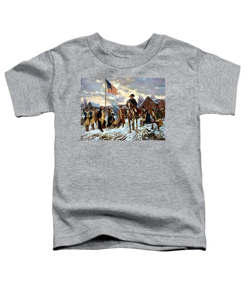 Washington At Valley Forge Toddler T-Shirt by War Is Hell Store