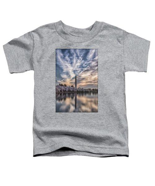 Washington Blossom Sunrise Toddler T-Shirt by Erika Fawcett