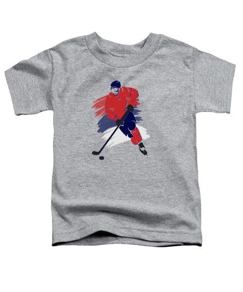 Washington Capitals Player Shirt Toddler T-Shirt by Joe Hamilton
