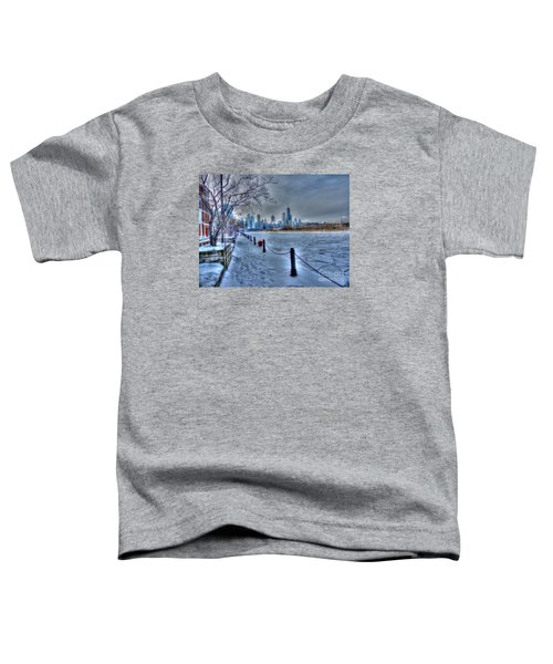 West From Navy Pier Toddler T-Shirt by David Bearden