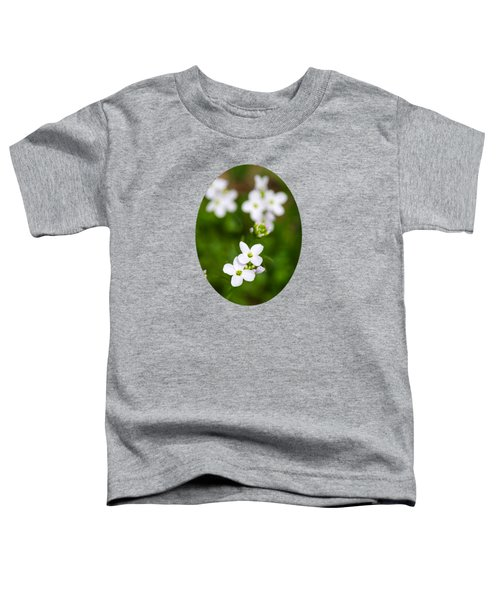 White Cuckoo Flowers Toddler T-Shirt by Christina Rollo