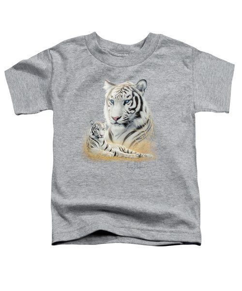 White Tiger Toddler T-Shirt by Lucie Bilodeau