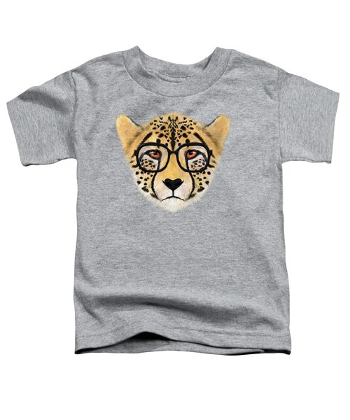 Wild Cheetah With Glasses  Toddler T-Shirt by David Ardil