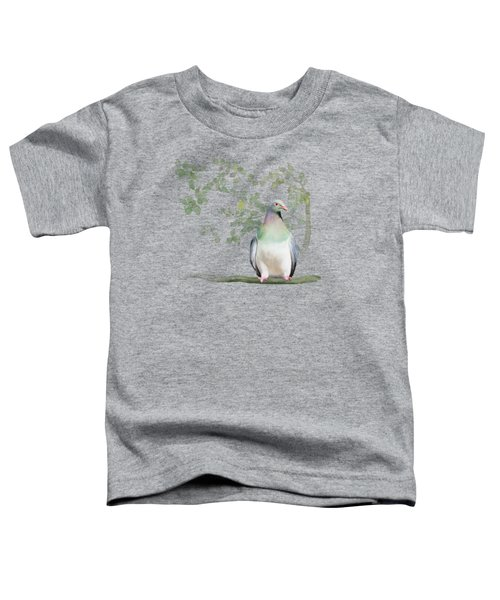 Wood Pigeon Toddler T-Shirt by Ivana Westin