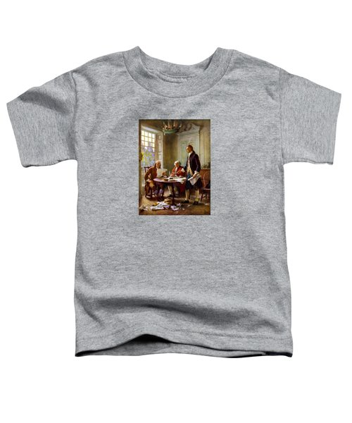 Writing The Declaration Of Independence Toddler T-Shirt by War Is Hell Store