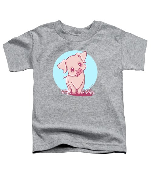 Yittle Piggy Toddler T-Shirt by Kim Niles