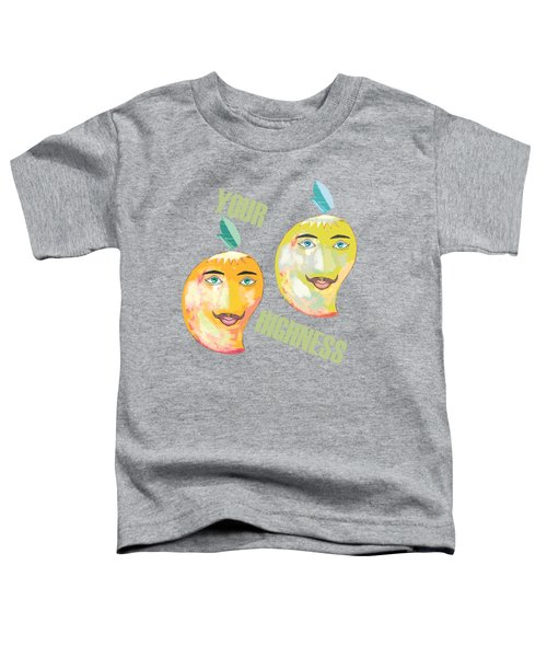 Your Highness B Toddler T-Shirt by Thecla Correya