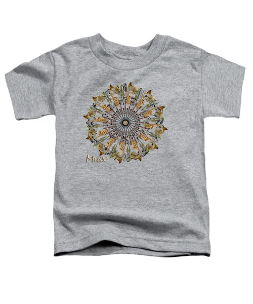 Zeerkl Of Music Toddler T-Shirt by Edelberto Cabrera
