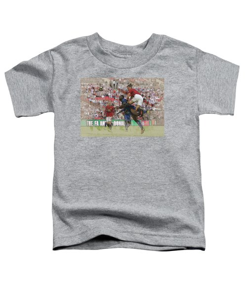 Zlatan Ibrahimovic Header Toddler T-Shirt by Don Kuing