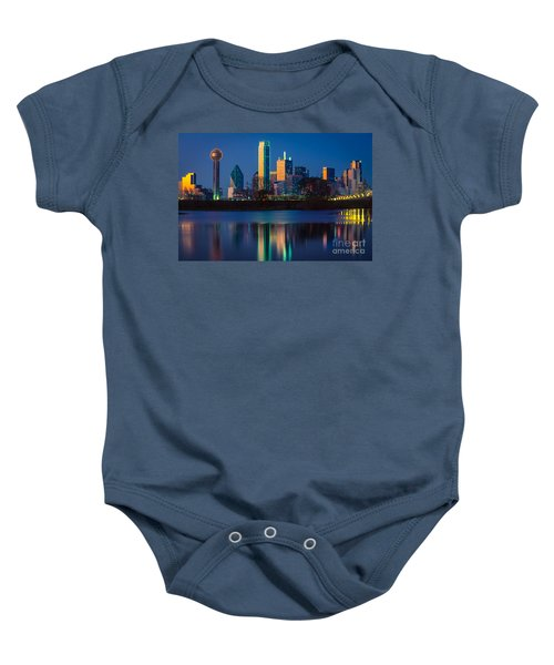 Big D Reflection Baby Onesie by Inge Johnsson