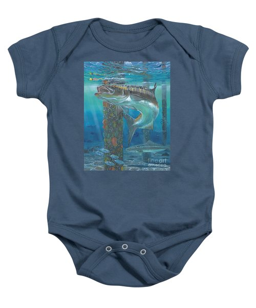 Cobia Strike In0024 Baby Onesie by Carey Chen