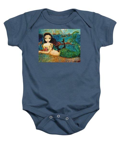 Little Mermaid Baby Onesie by Shijun Munns